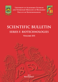Scientific Bulletin Series F. Biotechnologies